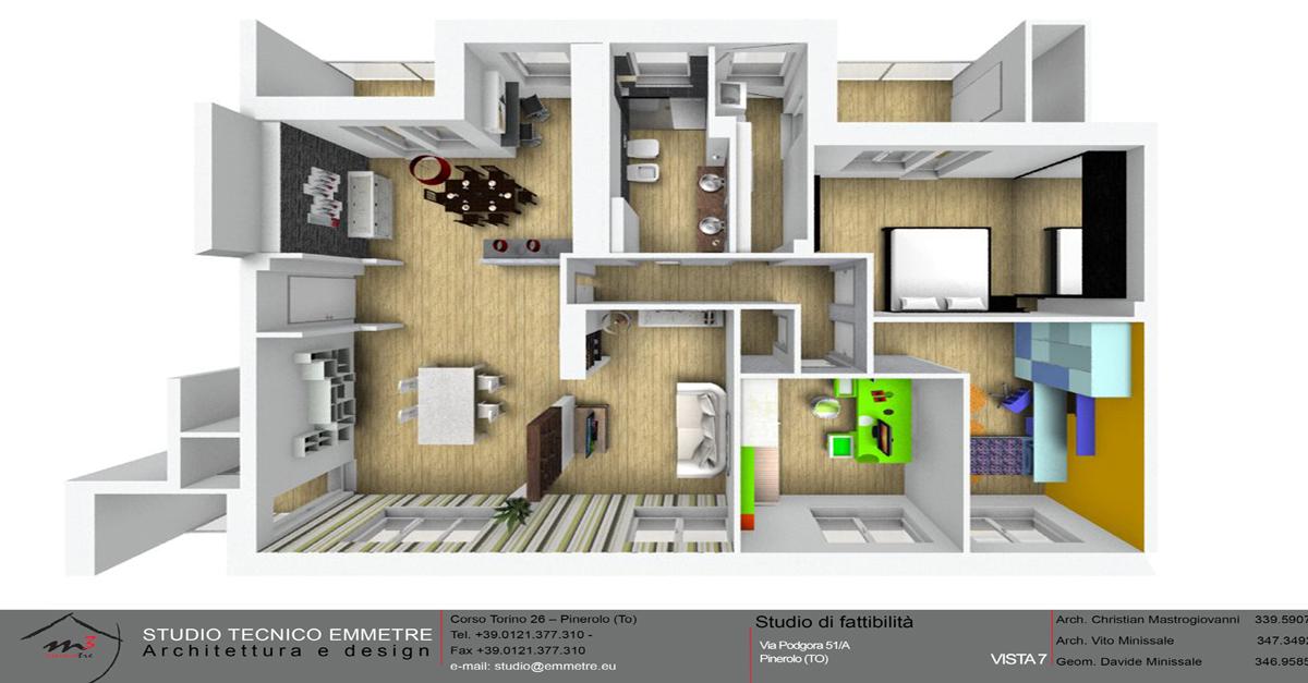 Il progetto della tua casa studio tecnico emmetre for Disposizione della casa 3d